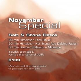 November Salt and Stone Detox Special at Zama!