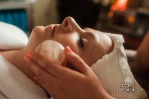 himalayan salt stone facial