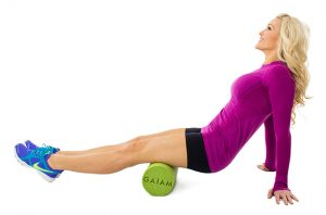 stretch, back pain, sciatica, foam roll